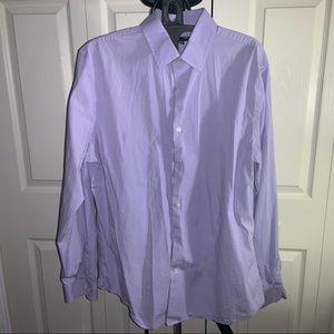 Express: Modern Fit Light Purple Dress Shirt (L)